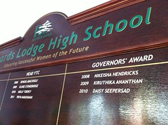 School Honors board