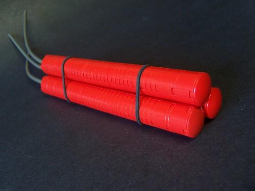 Gunpowder goes BOOM! Lego goes click-click