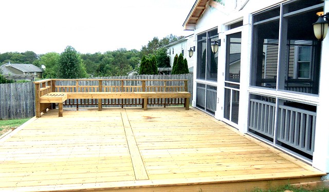 Custom deck with picture frame board layout flickr