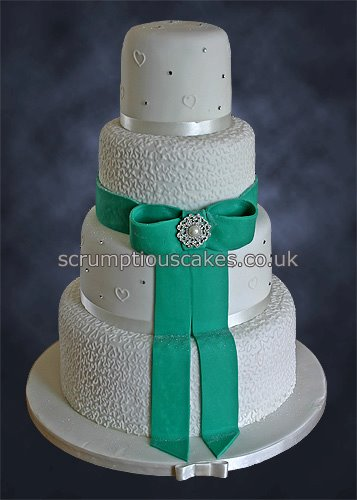 Wedding Cake 780 Jade Sugar Bow Cornelli Piping Flickr Photo