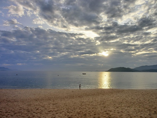 early-morning beach at Evason Ana Mandara Nha Trang