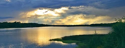 sunset landscape florida jacksonville troutriver