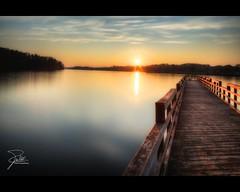 Sunset over Little Turkey Creek
