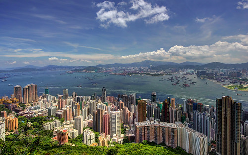 travel sea hk clouds buildings hongkong view harbour hdr victoriaharbour sheungwan stonecuttersisland bestcapturesaoi