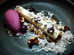 Goat Cheese Ash, Concord Grape Sorbet, Walnut Pralines at ink
