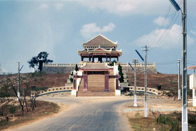 ARVN Cemetery Temple on Bien Hoa Highway - Feb 1969