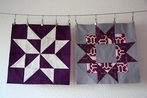 do. good stitches :: october, purple and grey stars