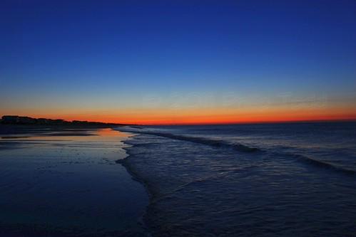 sky sun color colour reflection beach water clouds sunrise canon dawn nc north carolina rise holden 500d t1i