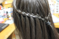 hair coloring(0.0), black hair(1.0), hairstyle(1.0), brown(1.0), french braid(1.0), hair(1.0), long hair(1.0), brown hair(1.0), braid(1.0),