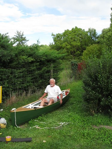 Peter Lord from Sweden in France with his Skin on Frame SOF Kayak