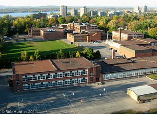 Aerial photograph - Broadview Public School and Nepean High School - Kite Aerial Photography (KAP)