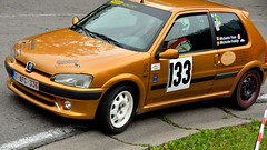 race car(1.0), auto racing(1.0), automobile(1.0), peugeot(1.0), rallying(1.0), racing(1.0), vehicle(1.0), sports(1.0), motorsport(1.0), city car(1.0), land vehicle(1.0), peugeot 106(1.0), hatchback(1.0),