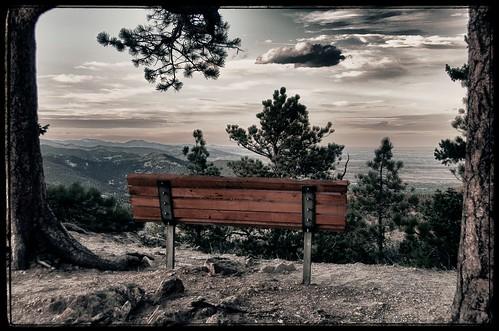 bench colorado boulder co mountainview hdr flickraward flickraward5 flickrawardgallery