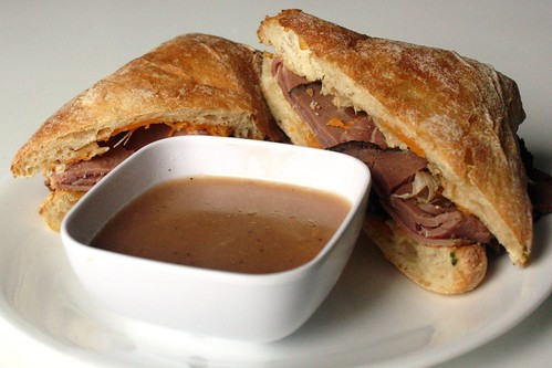 Cheddar French Dips with Simple Au Jus