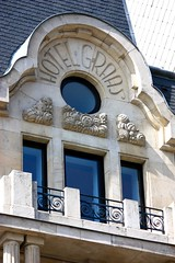 Art Nouveau Architecture on the Hotel Graas (Luxembourg)