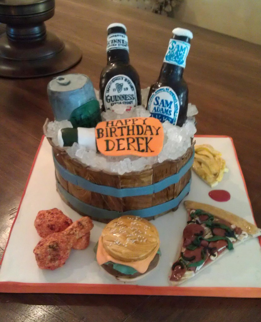 Beer Themed Birthday Cake  A Photo On Flickriver - Buffalo birthday cake