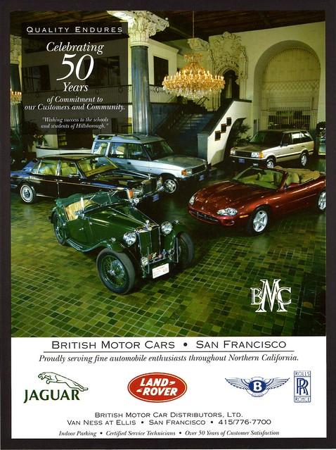 british motor cars san francisco ca 1997 flickr