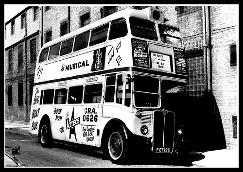 Ex London transport RT21 in use as band transport for the Aztecs.