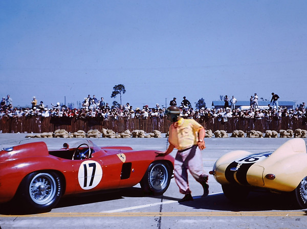 Fangio And His Winning Ferrari 860 Monza At Sebring 1956