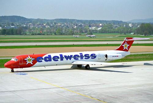 Edelweiss Air MD-83; HB-IKM@ZRH;11.04.1997