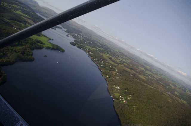 Lake Windermere, Cumbria from the air