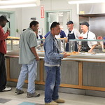 Liberty Mutual volunteers serve lunch to our Veterans