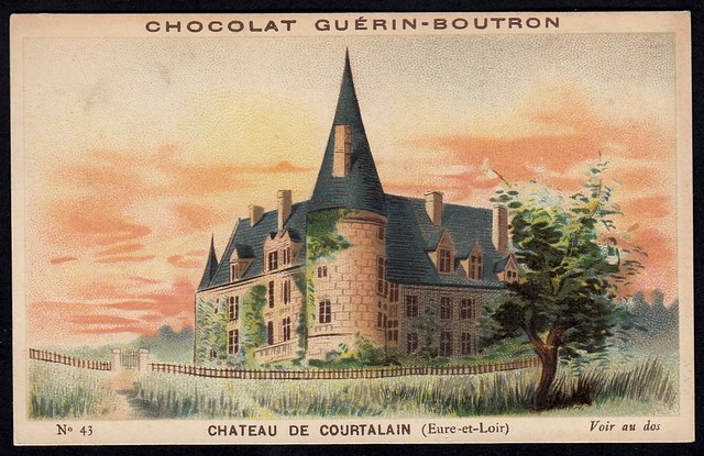 French Tradecard - Chateau de Courtalain