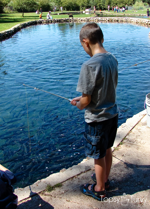 Family trout farm fishing ashlee marie real fun with for Trout farm fishing