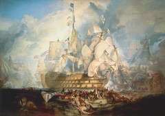 The Battle of Trafalgar, 21 October 1805, 1823-24, by JMW Turner