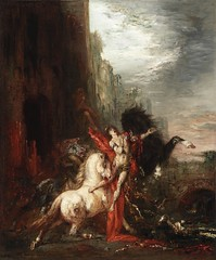 Diomedes devoured by his horses, 1865-70, by Moreau