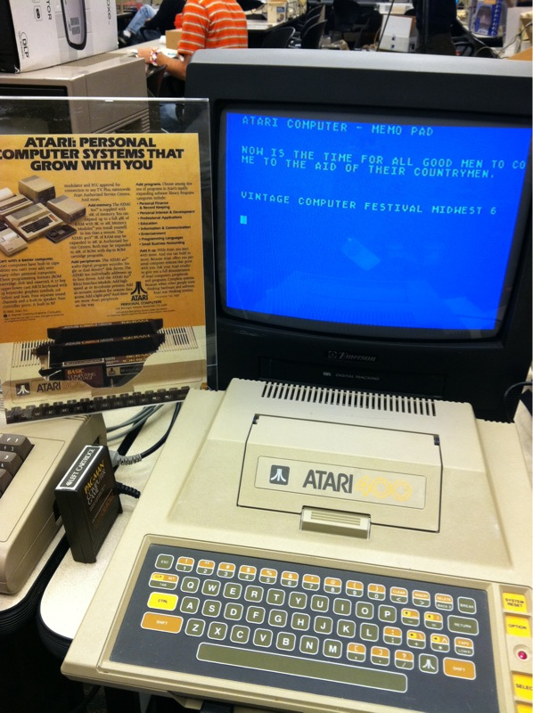 Word processing on the Atari 400