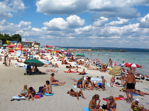 Beach on the Black Sea Odesa