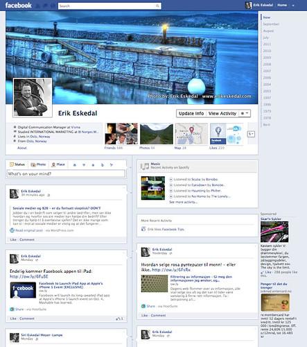 Facebook Timeline Eskedal