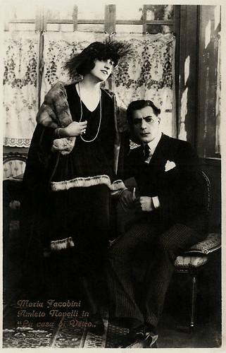 Maria Jacobini and Amleto Novelli in La casa di vetro (1920)