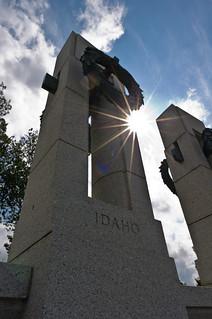 WWII Memorial sunburst
