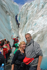 Wayne & Pat Hiking Franz Josef Gacier - New Zealand
