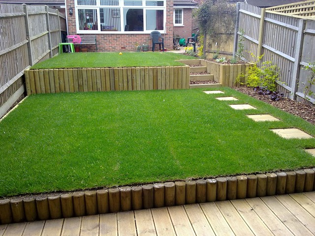 Terracing a sloping garden | Flickr - Photo Sharing! on Sloping Gardens Design Ideas id=49844