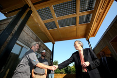 Energy Secretary Chu Visits Appalachian State University's Solar Decathlon House