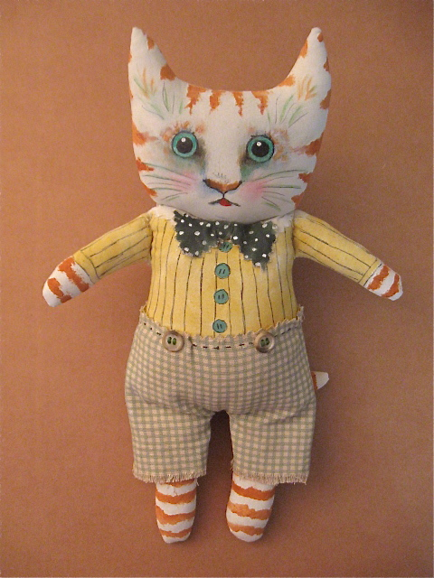 cat art doll