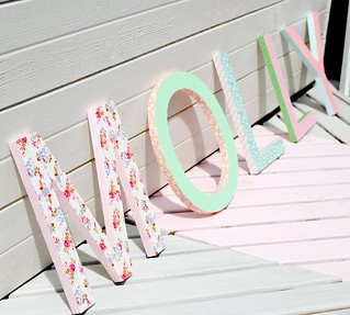 Pretty wooden letters