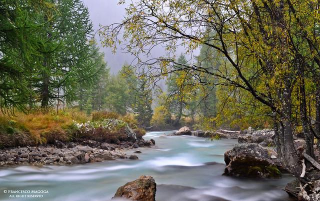 Courmayeur smoky river