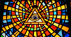 Stain Glass from 32 Degree Scottish Rite of the Masons II (beware the all seeing eye)