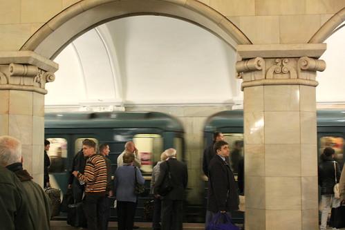 Moscou, métro, on prend la prochaine.
