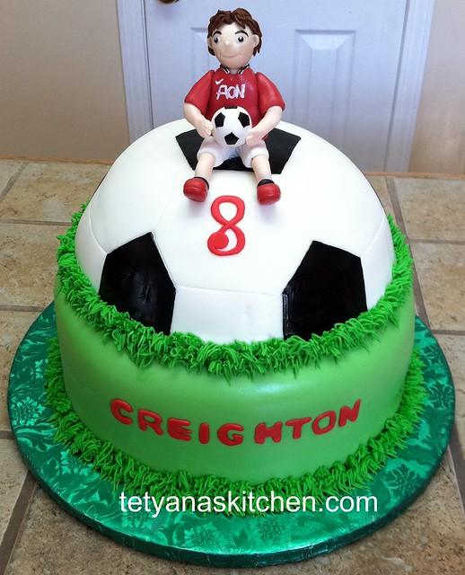 Soccer ball cake I used Wilton book for design ...