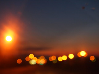 Sunset bokeh
