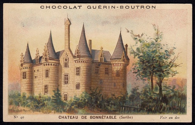 French Tradecard - Chateau de Bonnetable