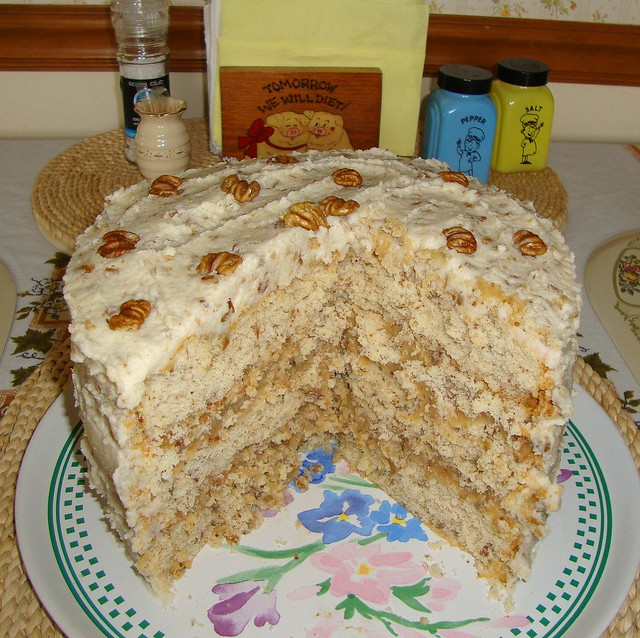 Hickory Nut Birthday Cake for Ron s sister, September 2011 ...
