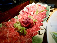 sashimi(0.0), hot pot(0.0), horse meat(0.0), shabu-shabu(0.0), meal(1.0), yakiniku(1.0), red meat(1.0), samgyeopsal(1.0), meat(1.0), kobe beef(1.0), food(1.0), dish(1.0), cuisine(1.0),