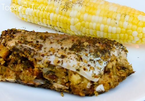 Stuffed trout recipe ashlee marie real fun with real food for Stuffed fish recipes