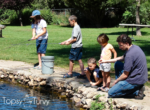 Family trout farm fishing ashlee marie - Trout farming business family mountains ...